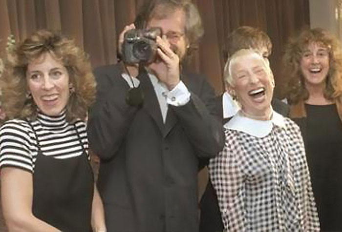 The Spielberg siblings with mother Leah Adler