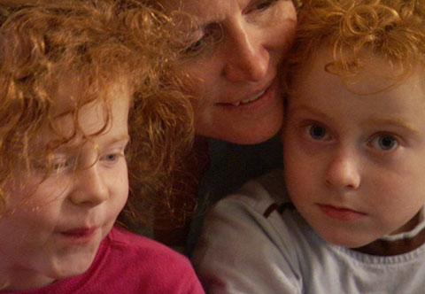 Filmmaker Sophie Sartain with her children