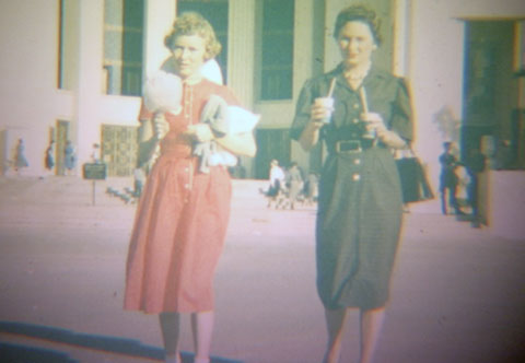 Mimi and Dona at the state fair, 1959