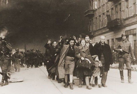 Jewish citizens during Ghetto Uprising